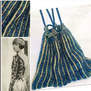 Vintage Antique 1930's Flapper Gatsby Beaded Bag
